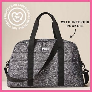 Victoria's Secret PINK Quilted Duffle Bag